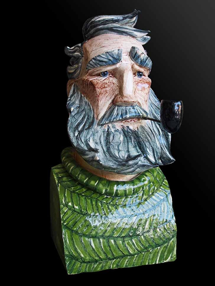 Image of Joe Lawrence - Salty Sea Dogs - Unique Ceramic Sculpture