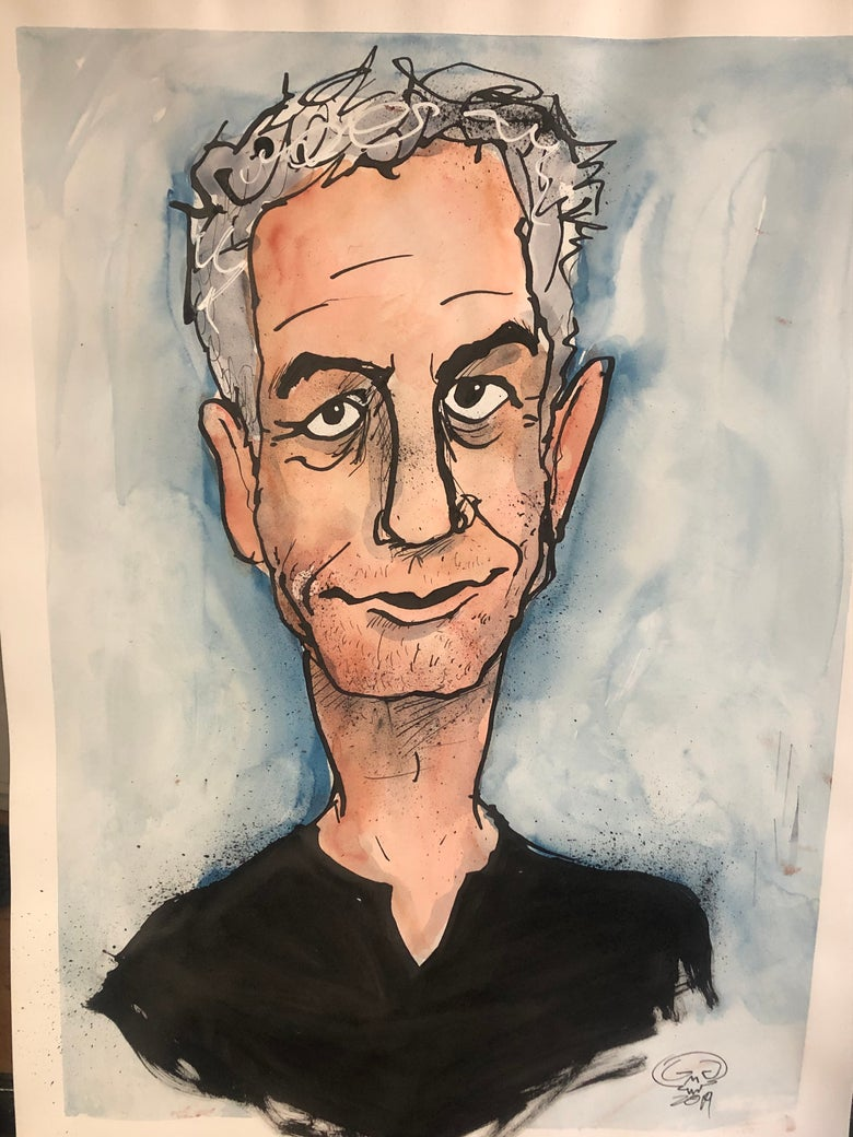 Image of Anthony Bourdain portrait