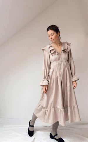 Image of EMMA Frilly Long Sleeve Dress