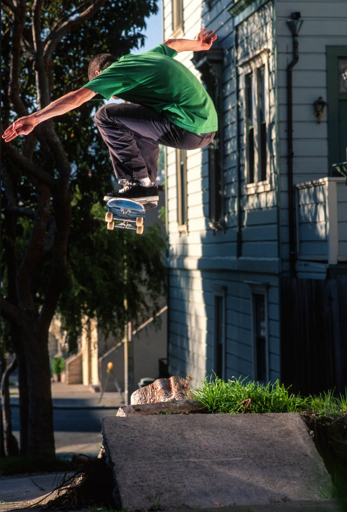 Julien Stranger, Ollie, San Francisco, 1995 by Tobin Yelland