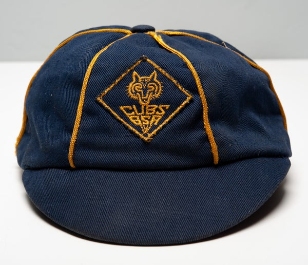 Image of 1946 Vintage BSA Cubs Boy Scouts of America Hat Cap 1940's Yellow Diamond Wolf Rare