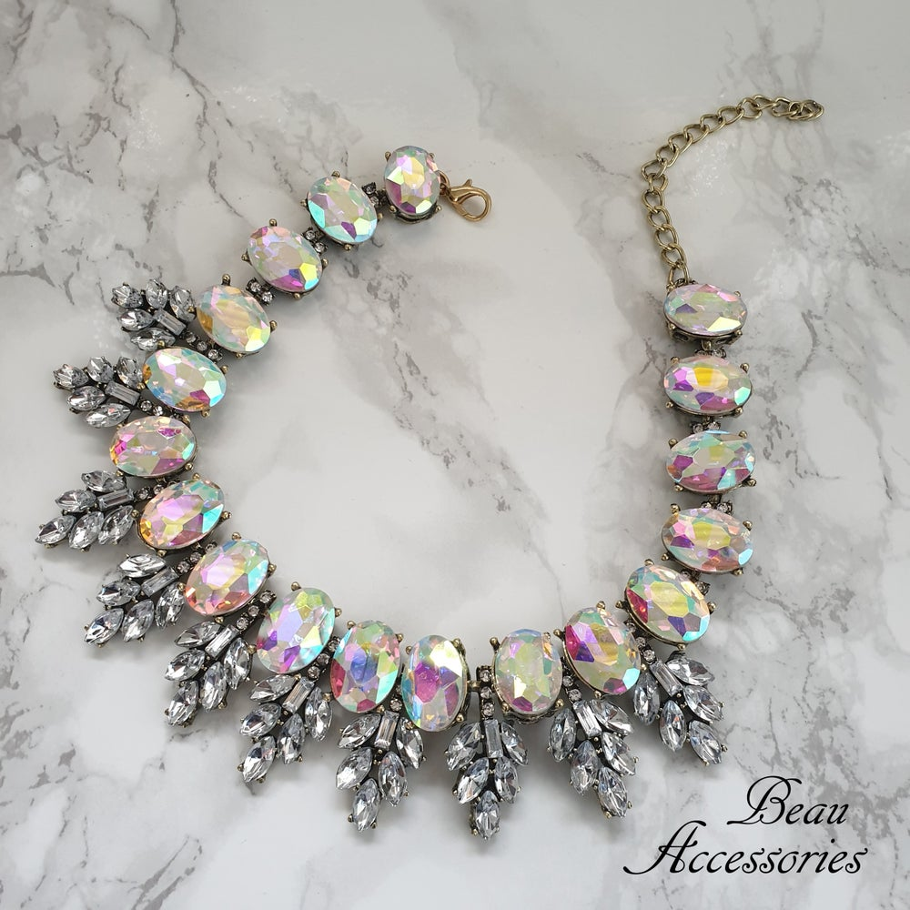 Image of Iridescent Crystal Statement Choker