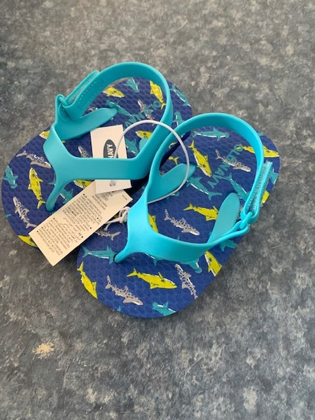 Image of Infant Boys Old Navy Shark Flip Flops