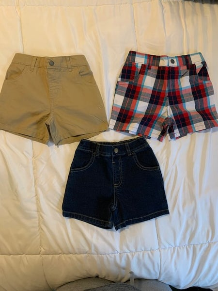 Image of Boys Plaid Khaki and Jean Shorts