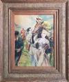20th Century French Illustrator 'The Winner' Watercolour c1950s