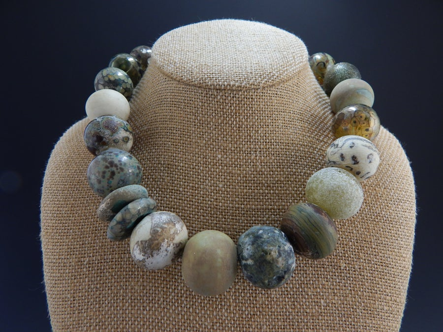 Image of Artisan Glass Jewelry • Organic Neutrals
