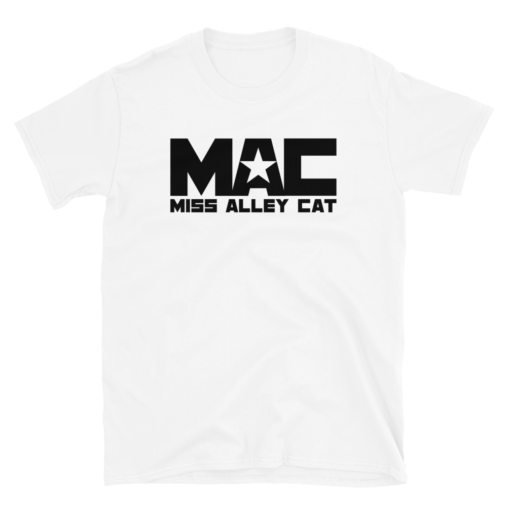 Image of Miss Alley Cat MAC Logo Tee - White