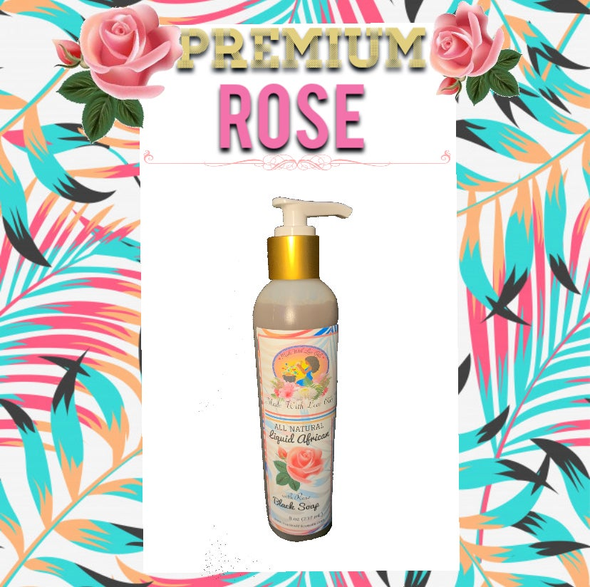 Image of Premium Rose Liquid African Black Soap