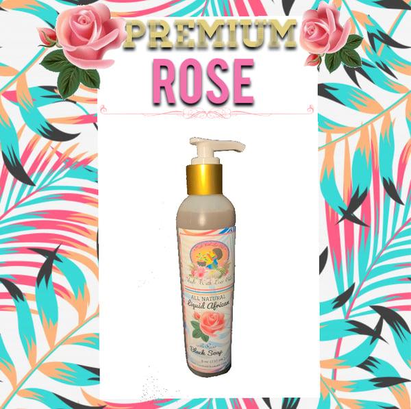 Image of Premium Rose Liquid African Black Soap