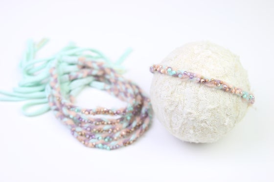 Image of Pastel Braided & Hand Beaded Halo/Tieback