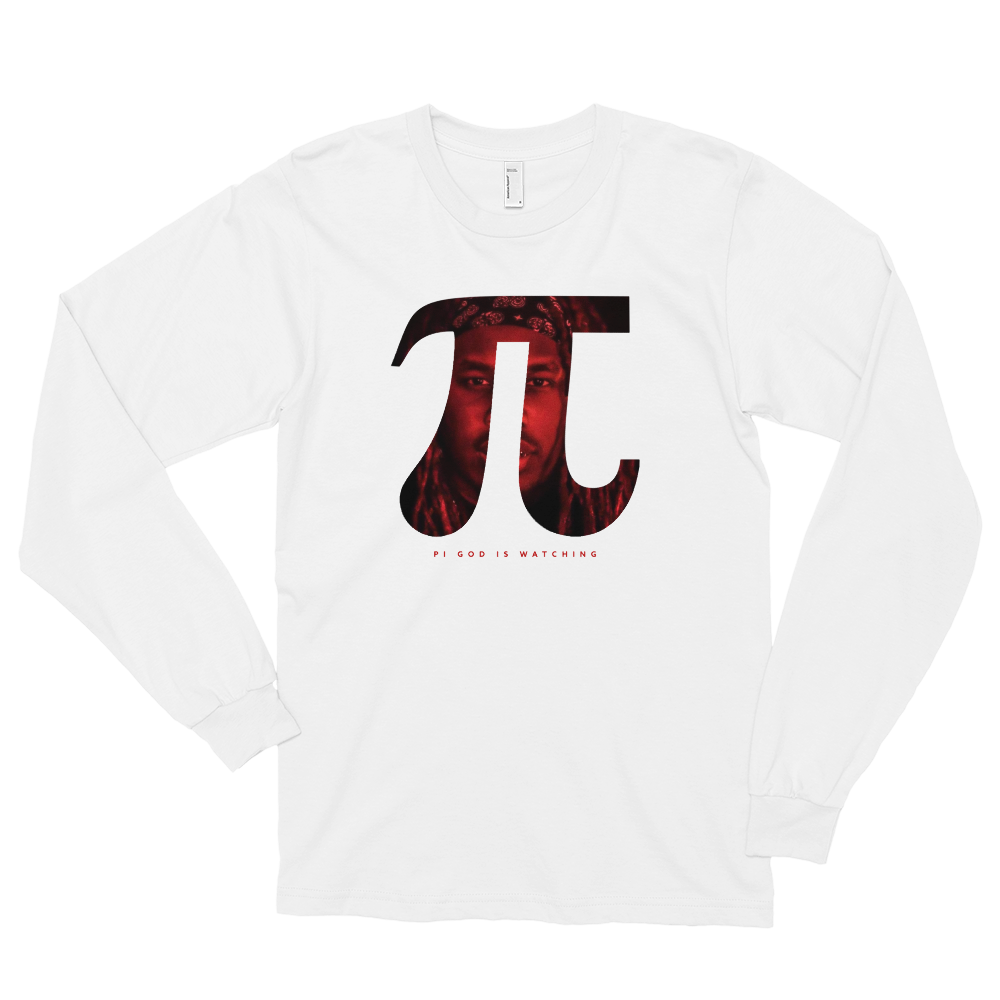 Image of Pi God is Watching Long Sleeve Tee - White