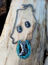 Horseshoe Boot Necklace Set