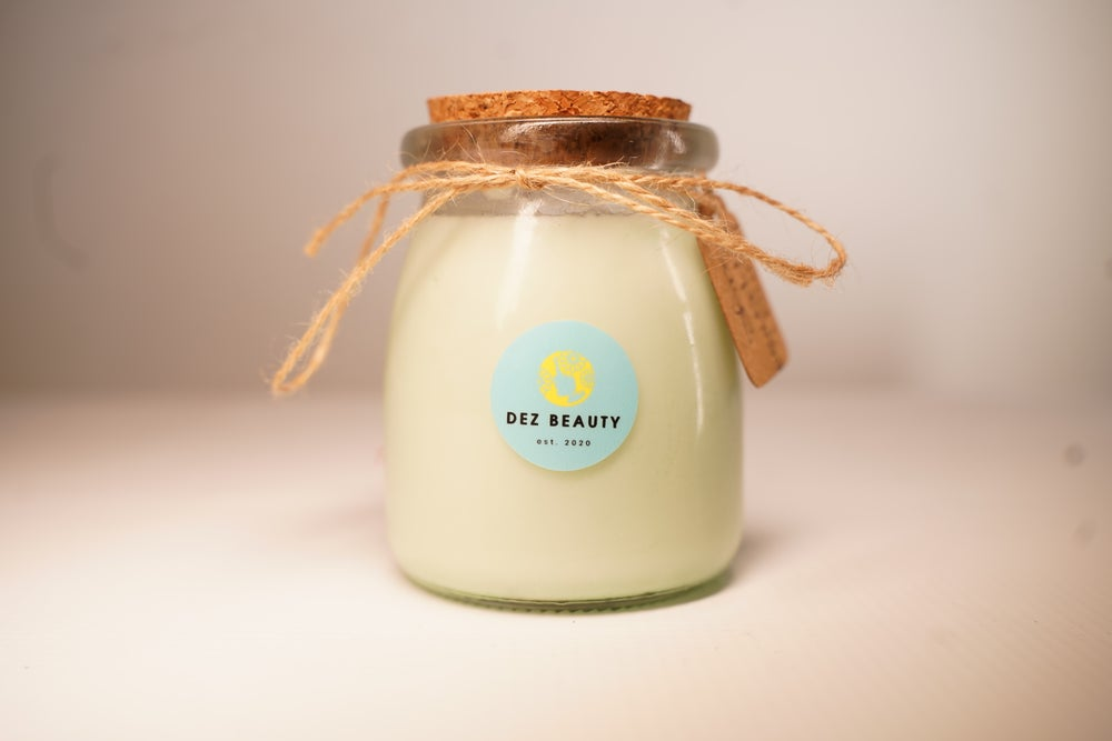 Image of LEMÓN PEPPERMINT w/ Green Aventurine & Sage Candle
