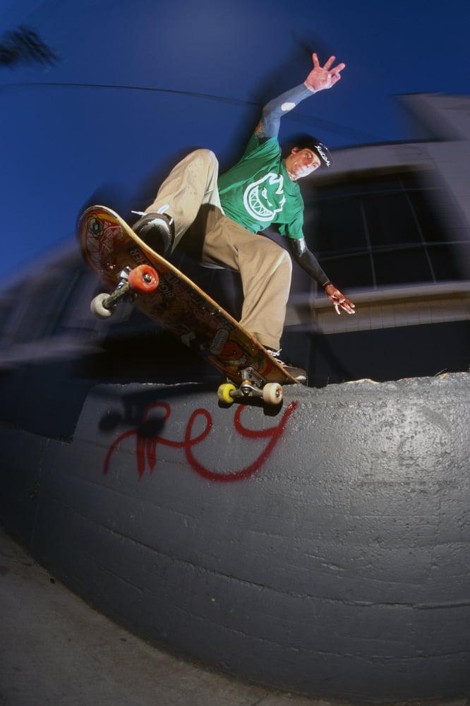 Scott Bourne, Tail Slide, Harrison St, San Francisco 99 By Tobin Yelland