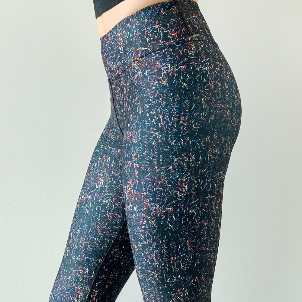 Image of Up All Night Sequin Yoga Pants