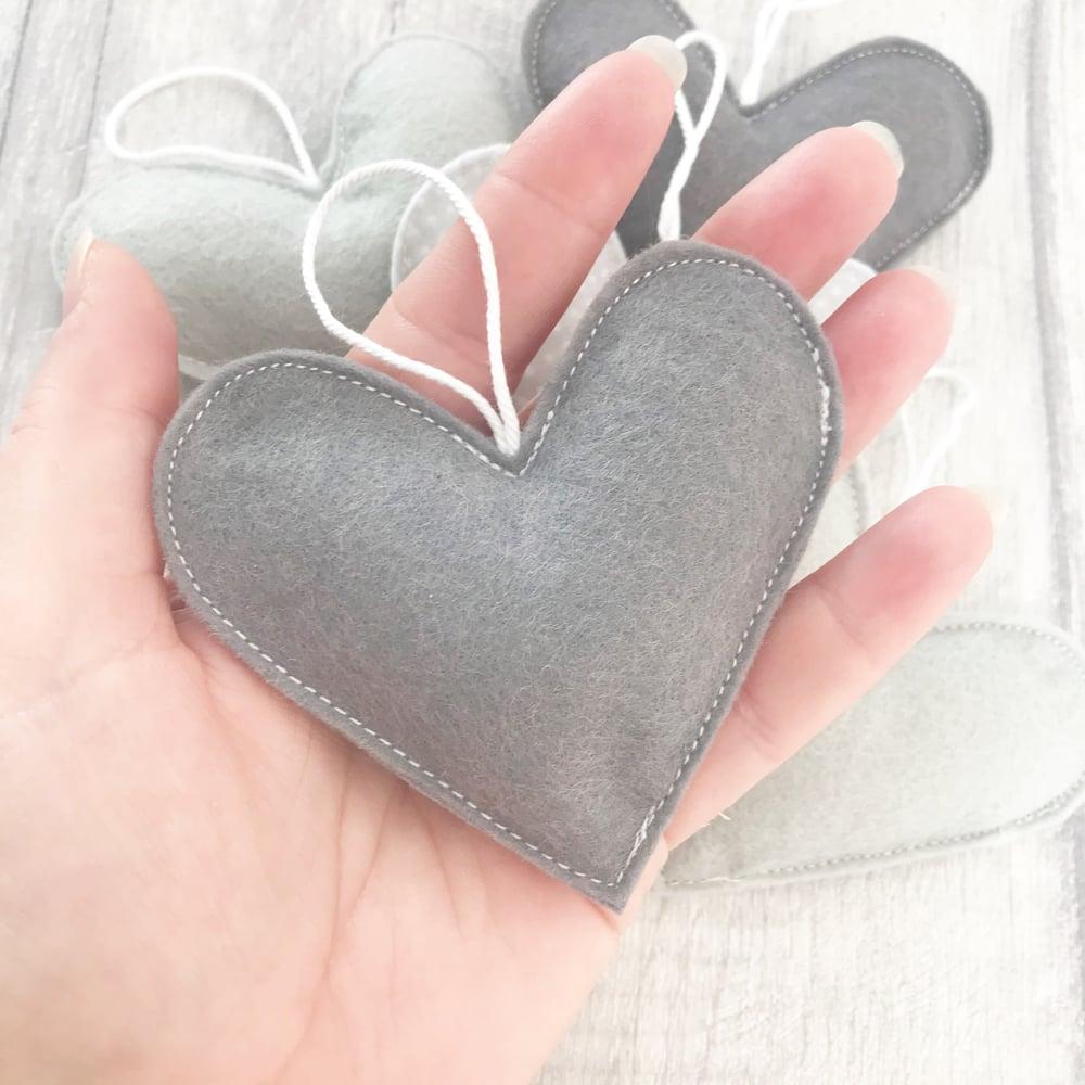 Image of Single Hanging Felt Heart