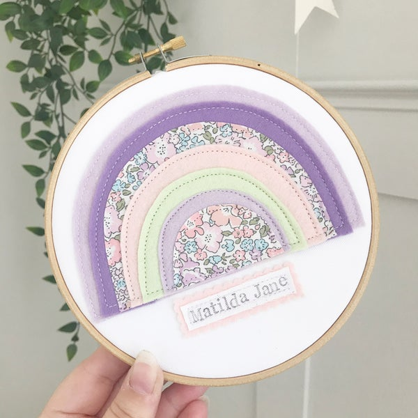 Image of Liberty Michelle Rainbow Hoop