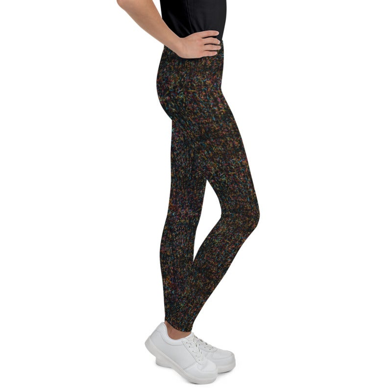 Image of Girl's Up All Night Sequin Yoga Pants