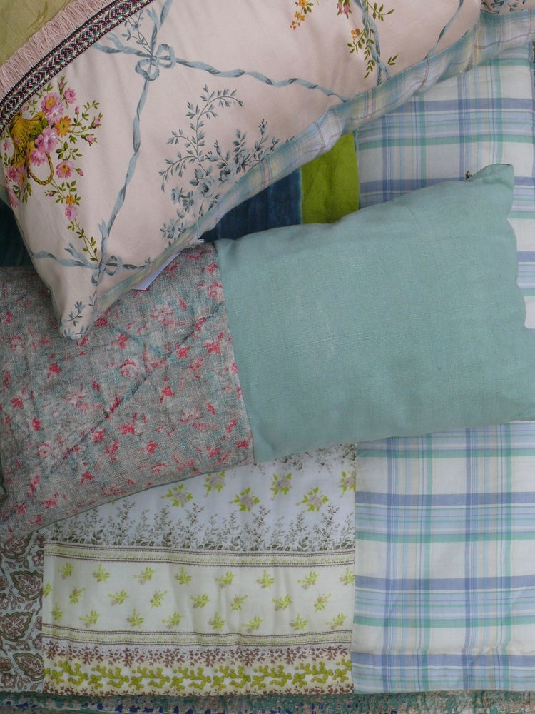 Image of Coussin green faded