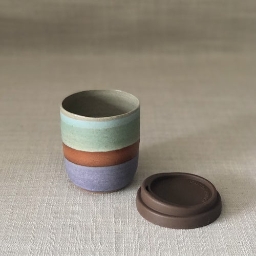 Image of DUSK PURPLE/GREEN TRAVEL CUP
