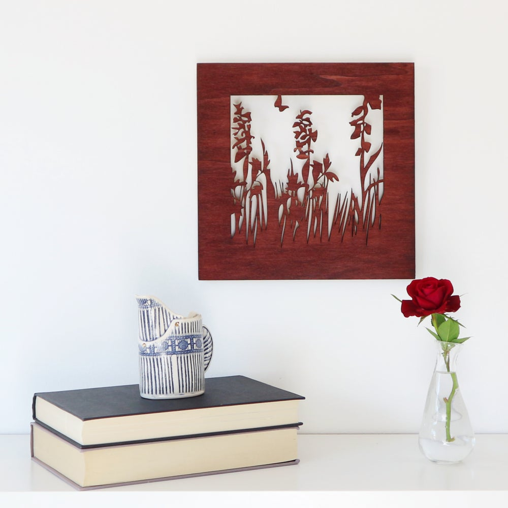 Image of Small Meadow Woodcut Artwork