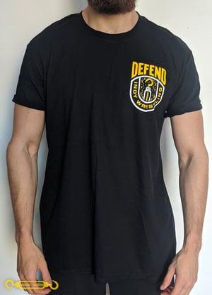 DEFEND Black 'Yellow Crest' Shirt