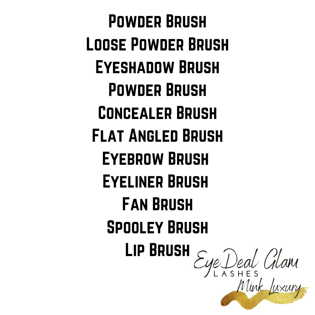 Glam Brushes-See thru