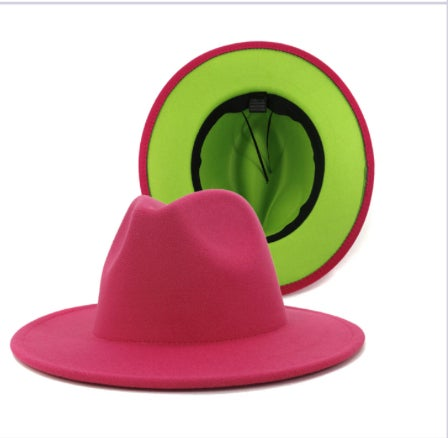Image of Rose and lime two tone Fedora