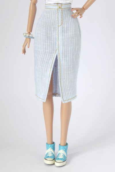 Image of Striped pencil skirt for Poppy Parker, NU.Face or Barbie (see description)