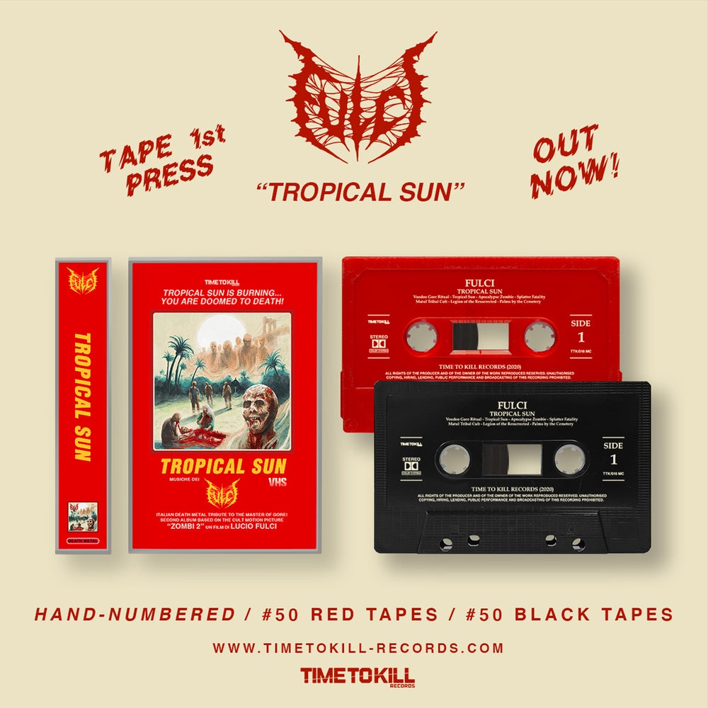 """FULCI """"Tropical Sun"""" - TAPE EXCLUSIVELY LIMITED EDITION (black)"""