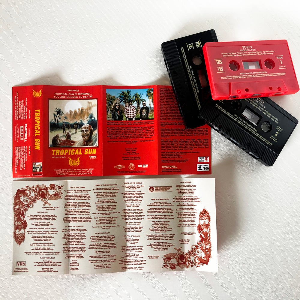 """FULCI """"Tropical Sun"""" - TAPE  EXCLUSIVELY LIMITED EDITION (red)"""