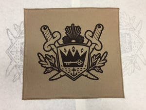 Image of Thieves and Beggars shield jacket back patch