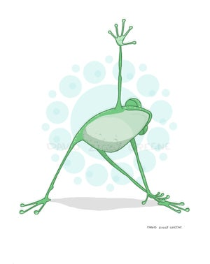 Yoga Frog greeting card set