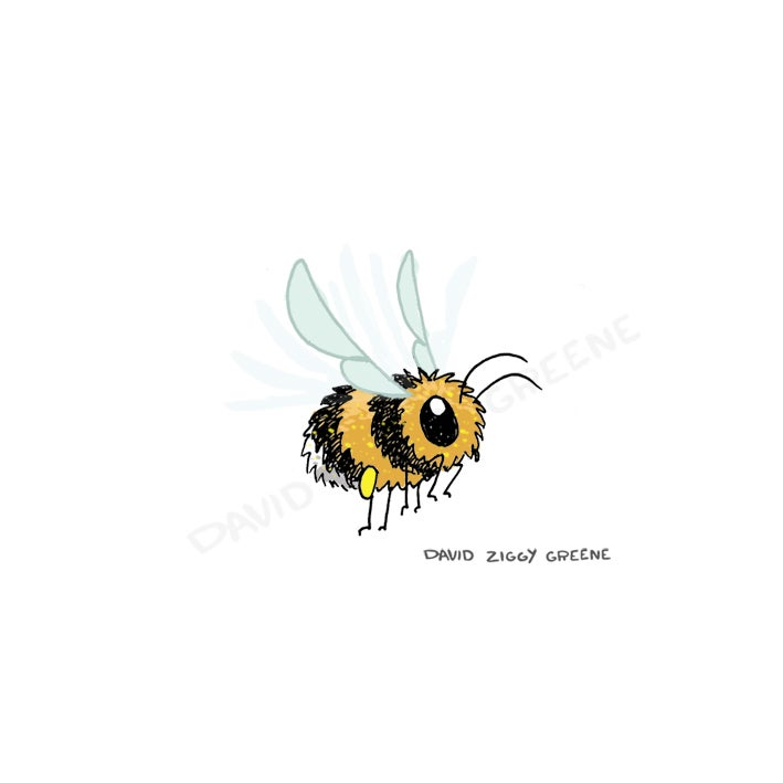 Bee mini-print (Charity item)