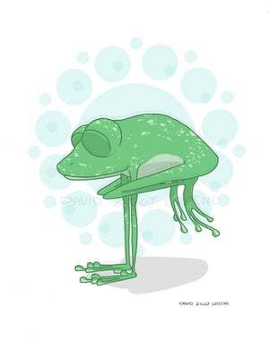 Yoga Frog print