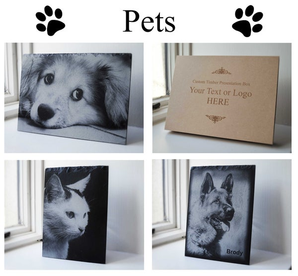 Image of Personalised Pet Engraved A4 Slate