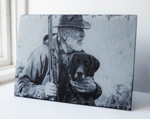 Your Pet. Laser-Engraved custom slate.