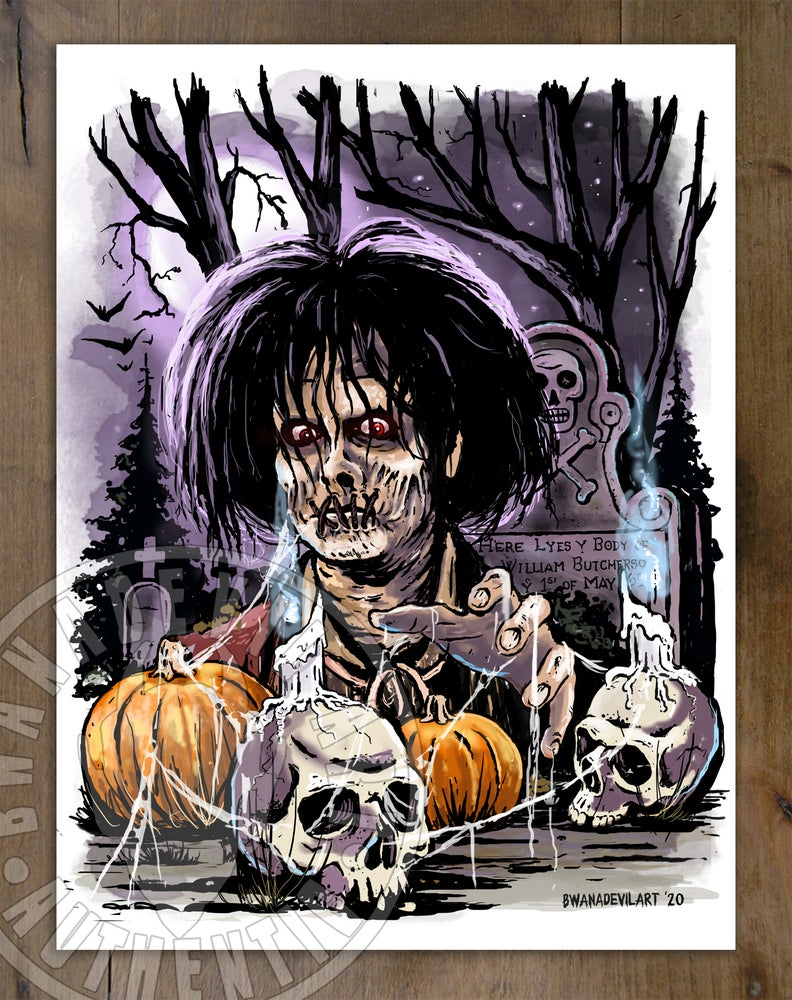 Image of Billy Butcherson (Hocus Pocus) Art Print 9 x 12 in.
