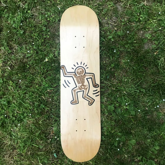 Image of Haring Bone Laser etched board