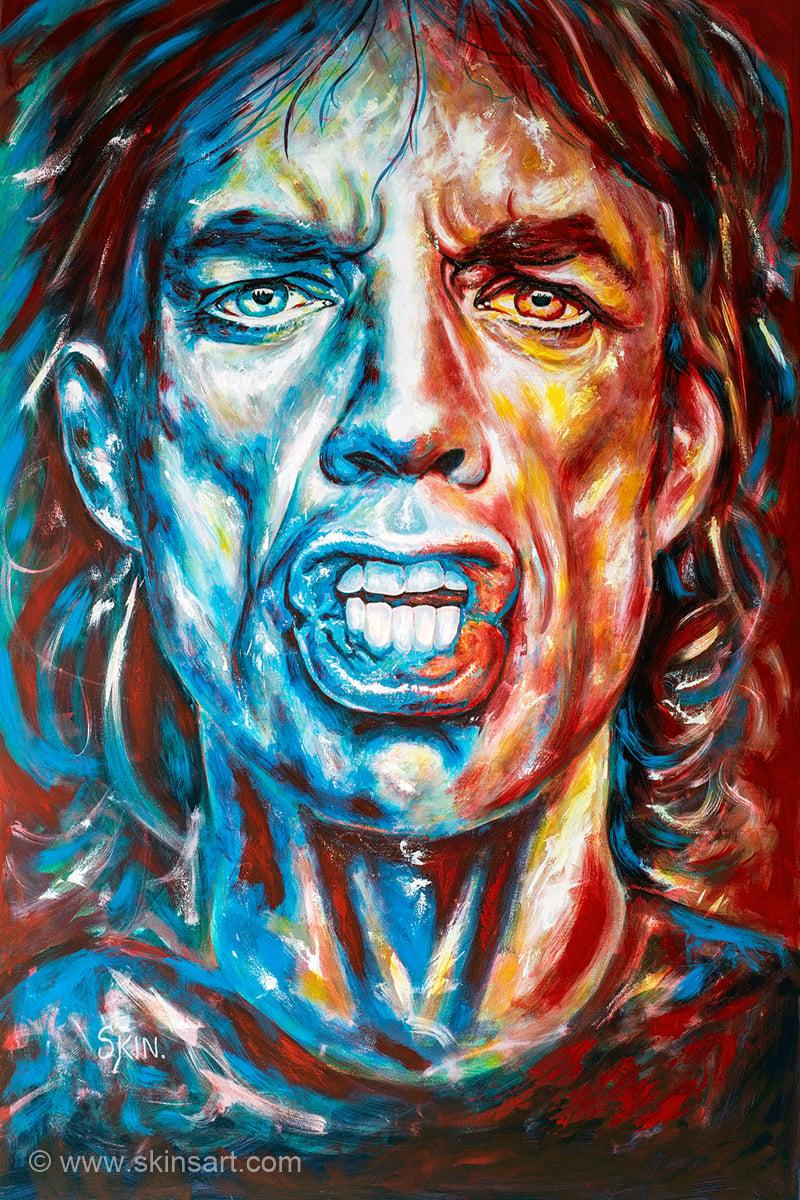 Mick Jagger by Jeff Williams (Premium Canvas Prints)