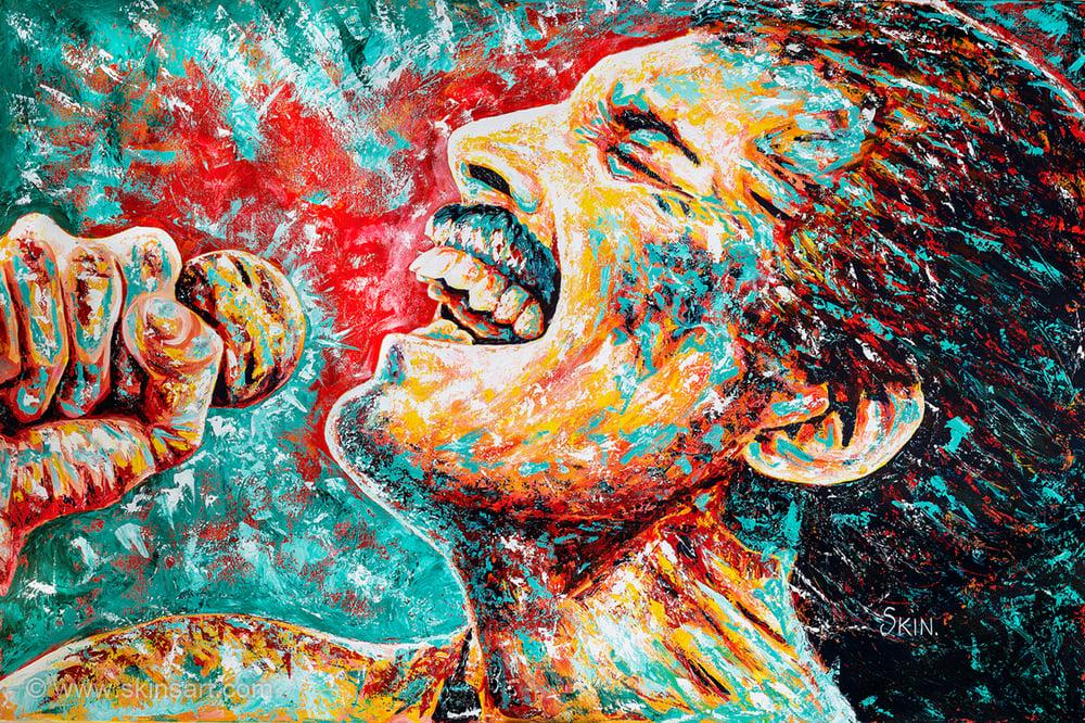 Freddie Mercury by Jeff Williams (Premium Canvas Prints)