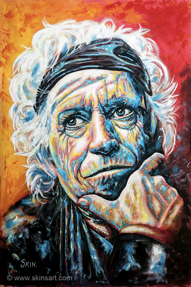 Keith Richards by Jeff Williams (Premium Canvas Prints)