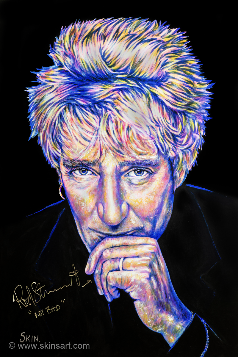 Rod Stewart by Jeff Williams (Premium Canvas Prints)