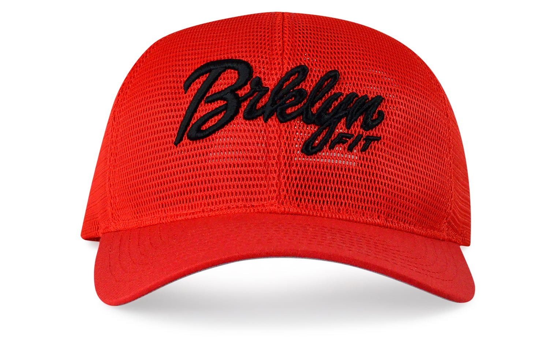 Image of BRKLYN FIT® LOGO - 3D (RED/BLACK) - CURVED SNAPBACK