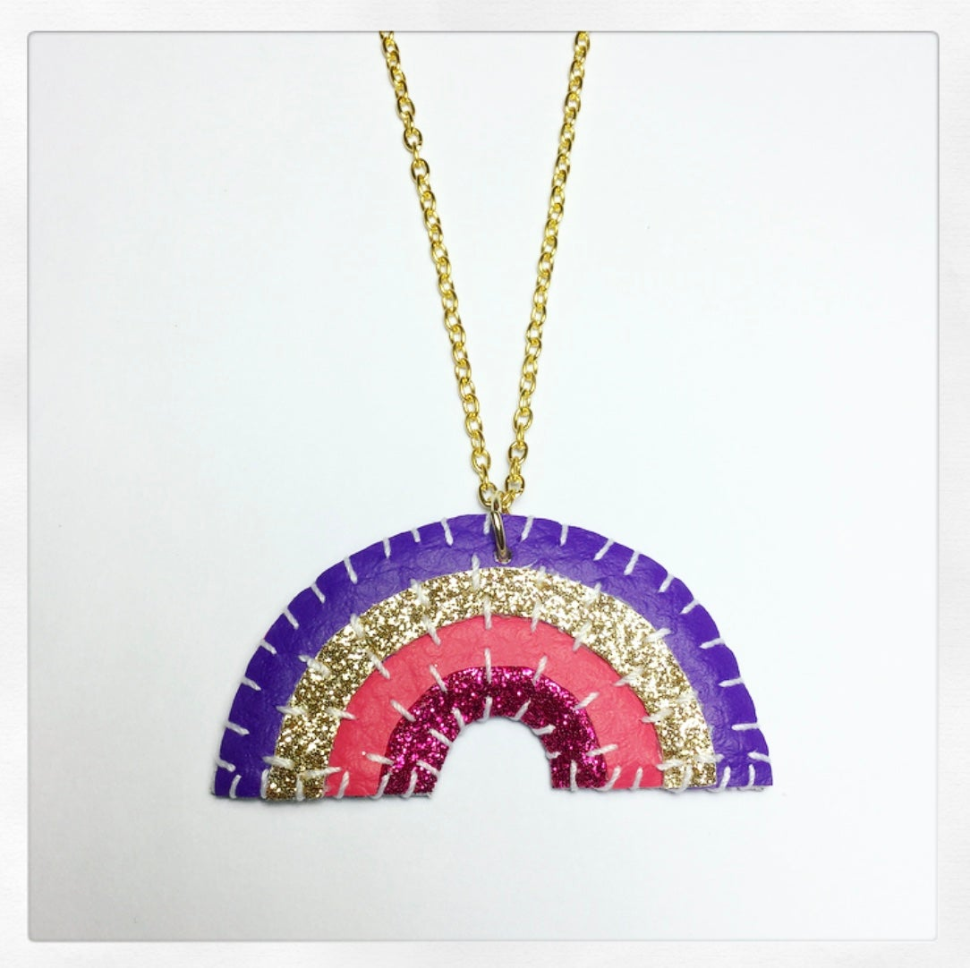Image of Disco Rainbow Necklace