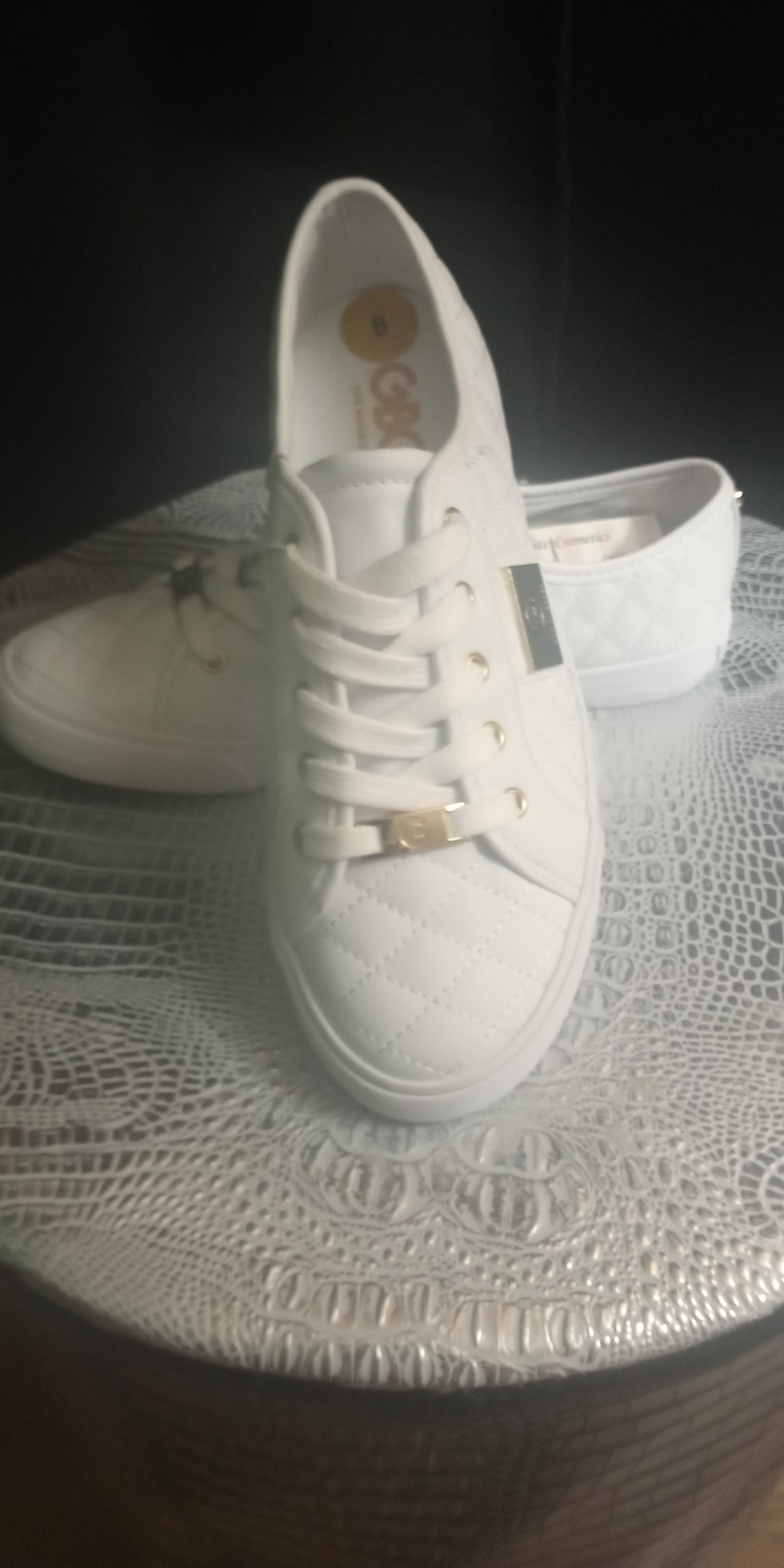 Ladies Quilted Guess Tennis Shoes
