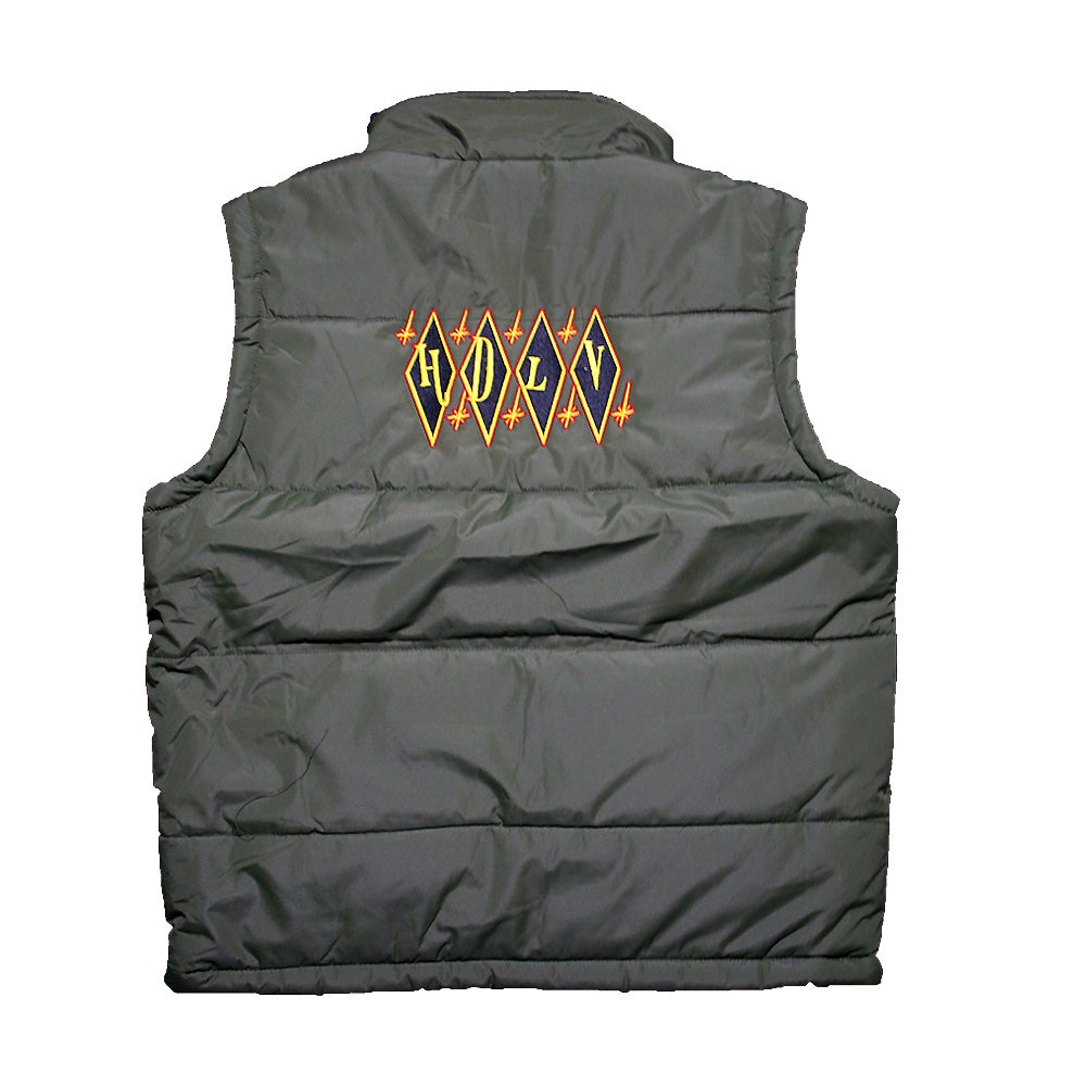 Image of Bowling Puffer Vest (GREEN)