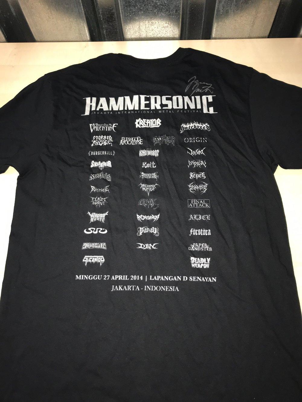 HAMMERSONIC FESTIVAL SHIRT SIZE LARGE SIGNED BY JAMEY JASTA