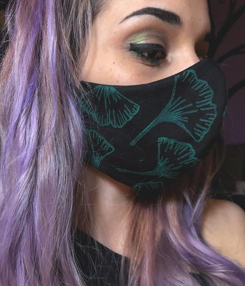 Image of Gingko Face Mask   Black