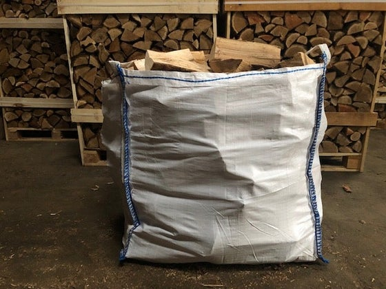 "Image of Kiln-Dried Ash ""Bigger than a Tonne Bag"" bag (much bigger new bags)"
